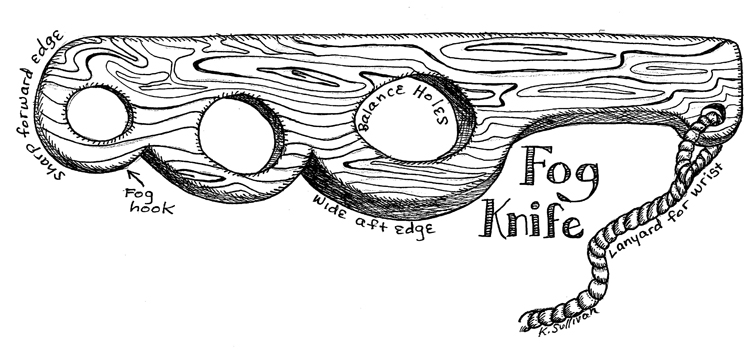 A fog knife, via 48north.com