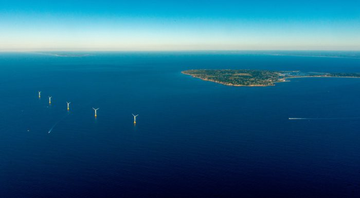 The five turbines of the Block Island Wind Farm. Photo grabbed from the project's official website.