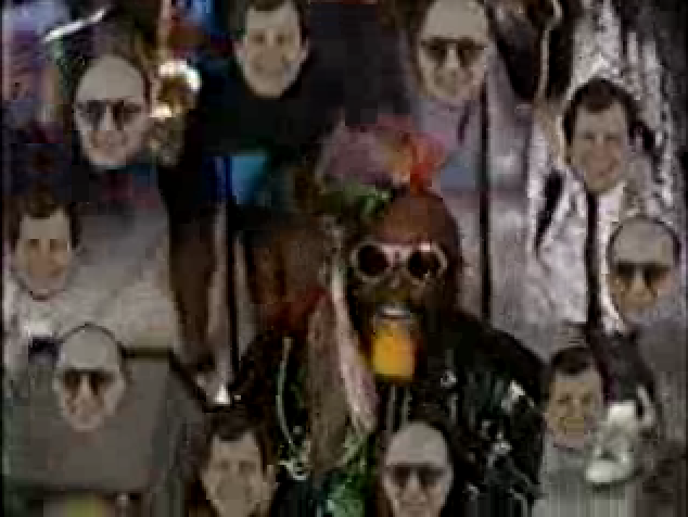 George Clinton on David Letterman's show, summer of 1989.