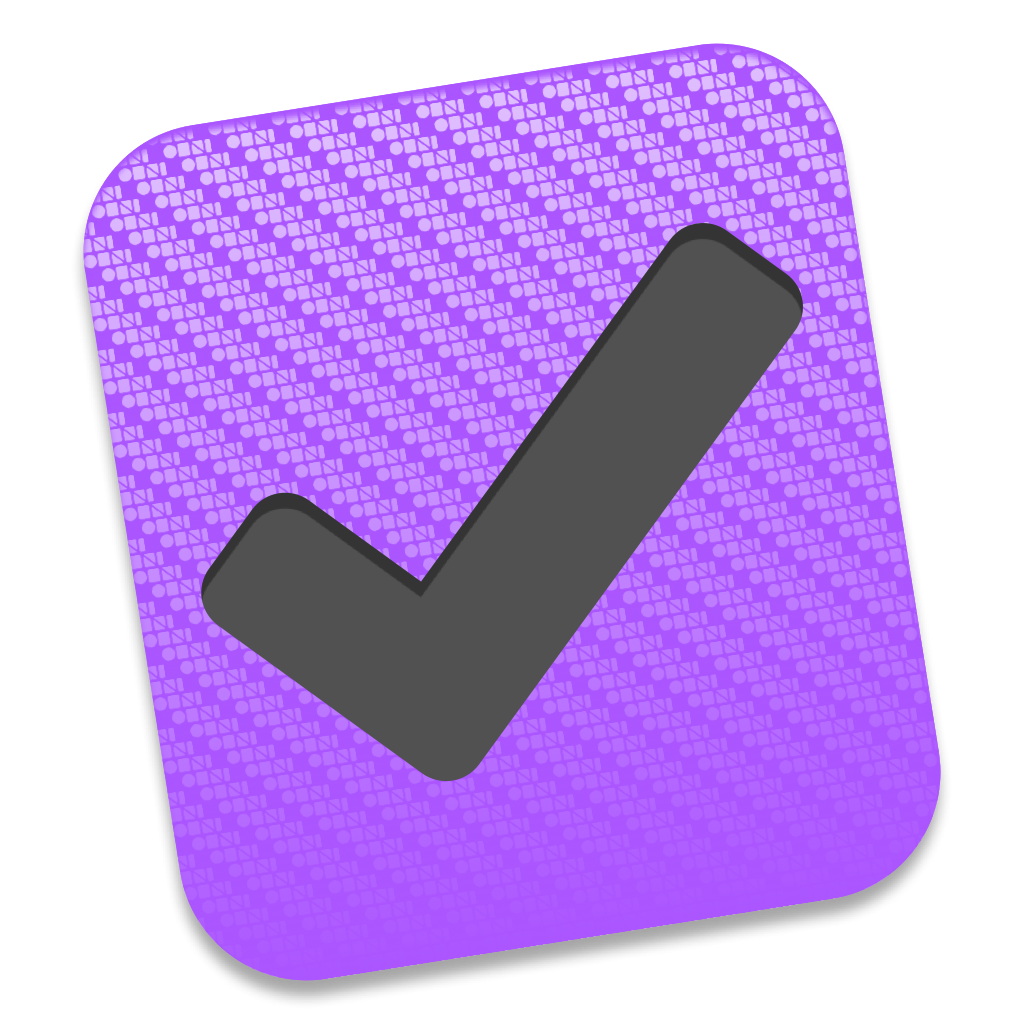 OmniFocus's current Mac icon, shaped like a big purple checkbox.