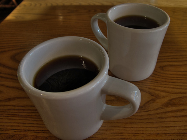 two cups of coffee, photograph by Alvin Trusty. CC-BY-SA 2.0