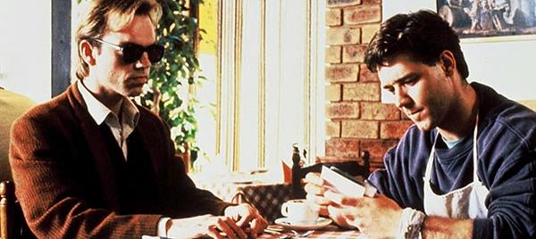 Hugo Weaving and Russell Crowe in Proof (1991)